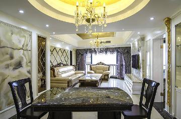 欧式 三居室 大成装饰案例欣赏