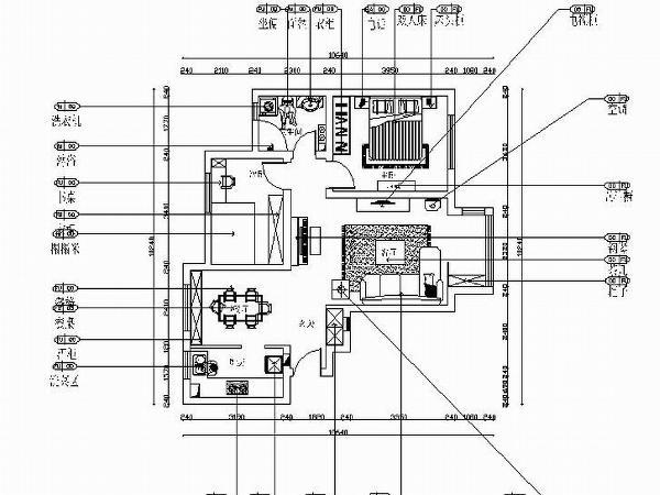 本案为津铁泰苑楼标准层户型2室2厅1卫1厨91㎡的户型。从片面效果图来看,以顺时针方向走,入户门进来左边即为餐厅,餐厅的后面是厨房。