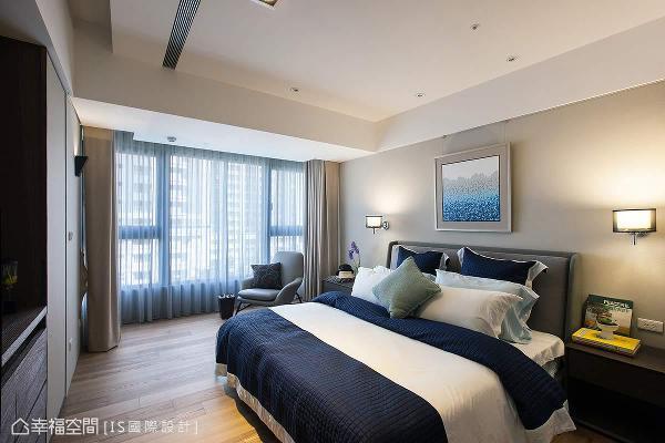 IS国际设计以温婉的色系揉和自然光线,营造舒适宜人的卧眠氛围。