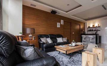 94平米中式风格二居室装修样板间