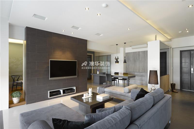 客厅图片来自澳华装饰有限公司在南湖玫瑰湾·现代时尚物语的分享