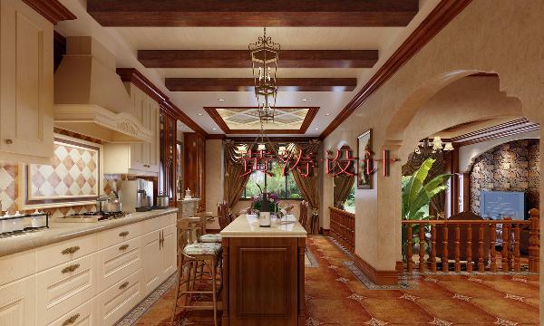 成都雅居乐460平米别墅美式风格装修设计案例——餐厅设计效果