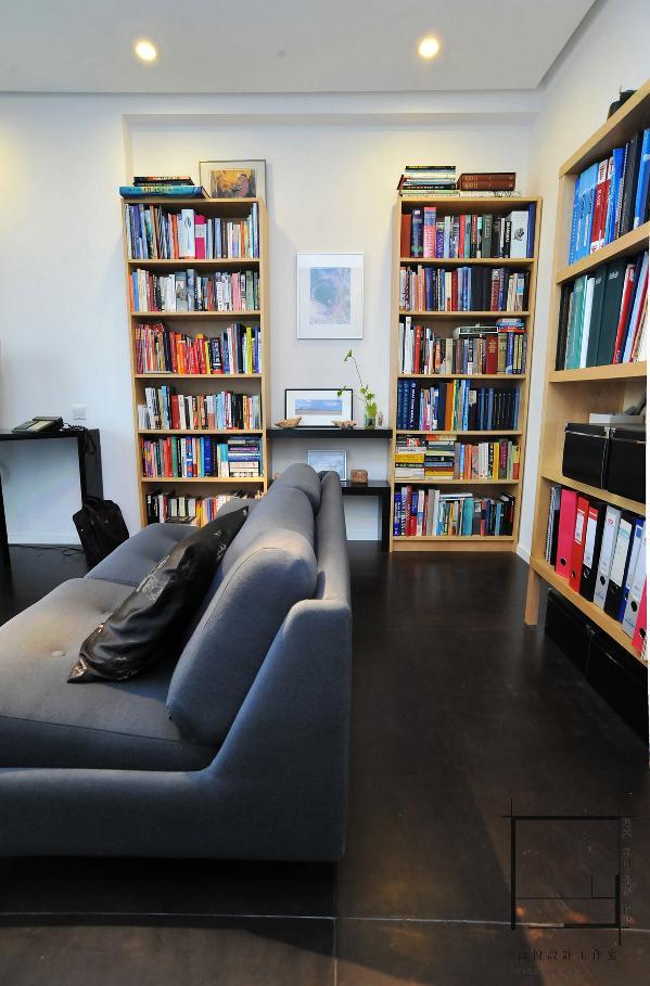 书房依然还是那么的简单。