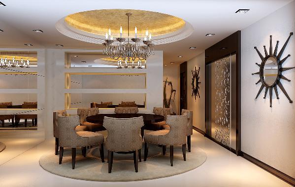 餐厅:简单大气的造型和家具,凸显去设计的含义。