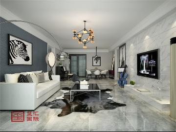 博雅庄园160平三室极简风格