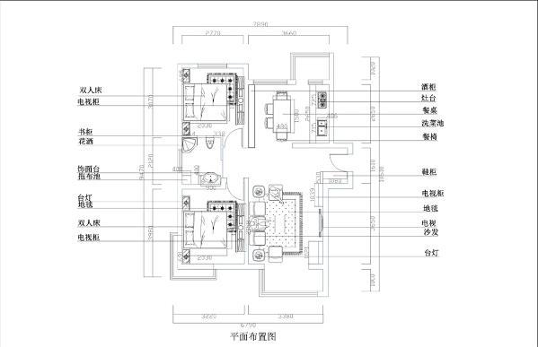 从入户开始左侧是客厅,右侧为餐厅和厨房,厨房右侧小阳台,再往前面走是一个卫生间,出来是两个卧室,左侧为主卧,右侧为次卧,整体来说整个户型,各个动能区的划分都比较合理,采光充足,宽敞明亮
