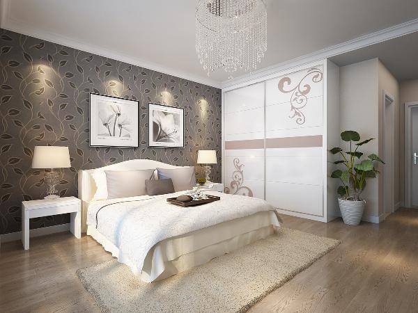 129平米-简约风格装修卧室效果