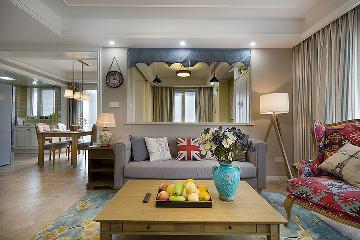 祥和家园100平半包9万元美式风格