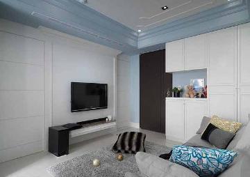 66方平米混搭风格二居室装修案例