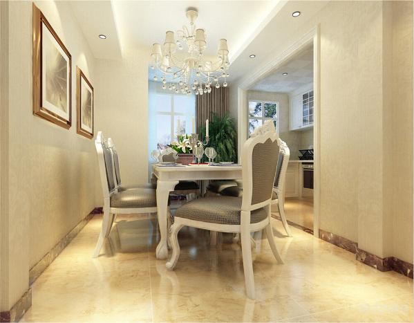 餐厅简约温馨皮质餐椅线条简约温馨,加上现代银色元素,使就餐成为一种愉悦的事。