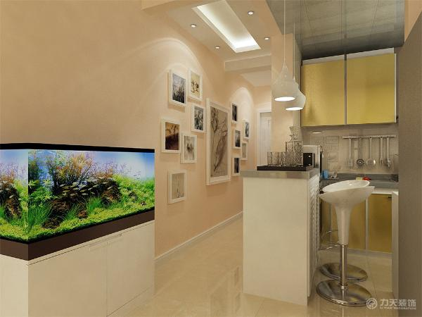 餐厅则设置在了厨房的吧台上,书房也是做的比较简单并且家具都以白色为主。