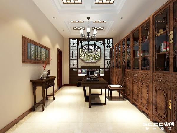 书房的设计,让人仿佛穿越到了古代