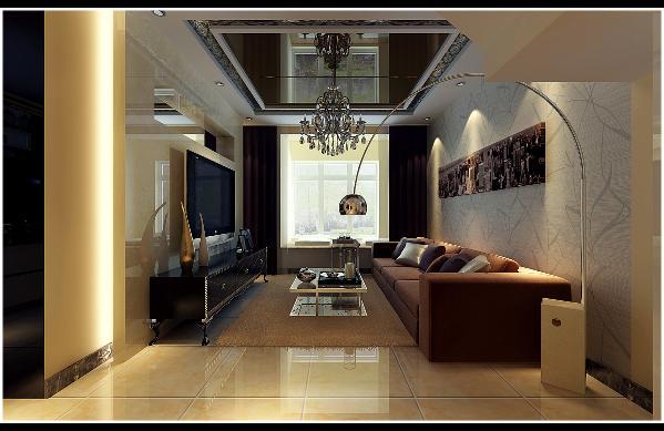 客厅特色是将设计的元素、色彩、照明、原材料简化到最少的程度,但对色彩、材料的质感要求很高。因此,简约的空间设计通常非常含蓄,往往能达到以少胜多、以简胜繁的效果。