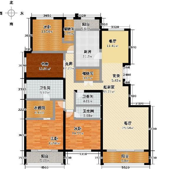 泛海国际三居户型图