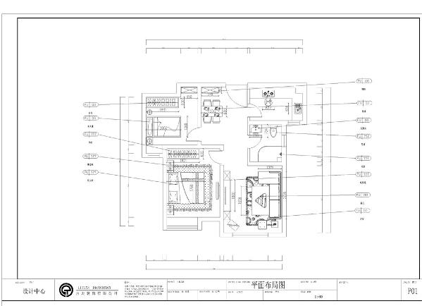 本案为远洋风景标准户型2室2厅1卫1厨74.9㎡的户型。这次的设计风格定义为现代风格。