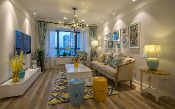 大华清水湾2室2厅120平简美风格