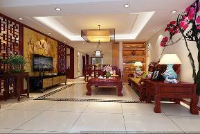 中式风格 二居 宜家 装修设计 客厅图片来自业之峰装饰旗舰店在微霞尚满天的分享