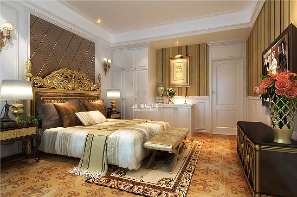 欧式 古典 别墅 壁炉 石膏线 卧室图片来自澳华装饰有限公司在保利