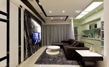 银春小区76平混搭风格二居室装修