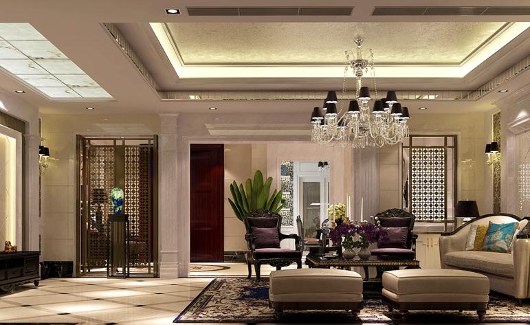 欧式 别墅 客厅图片来自居众装饰东莞分公司在南城国际公馆-欧式风格-360平米的分享