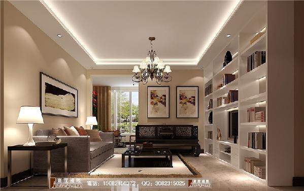 上品金沙客厅细节效果图---成都高度国际装饰设计