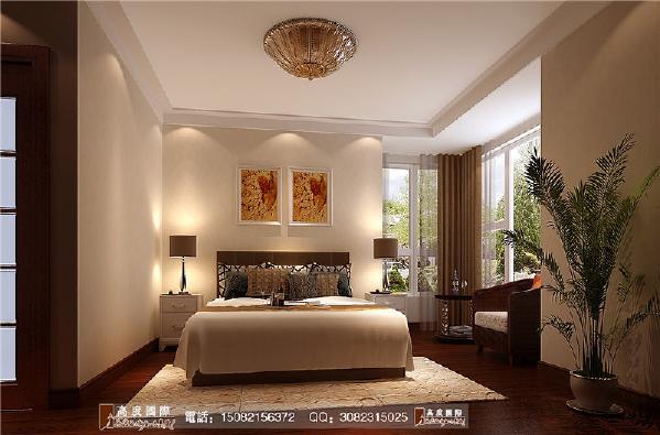 上品金沙卧室细节效果图---成都高度国际装饰设计