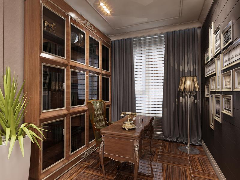 书房图片来自业之峰装饰旗舰店在宁静素雅的简欧时尚的分享