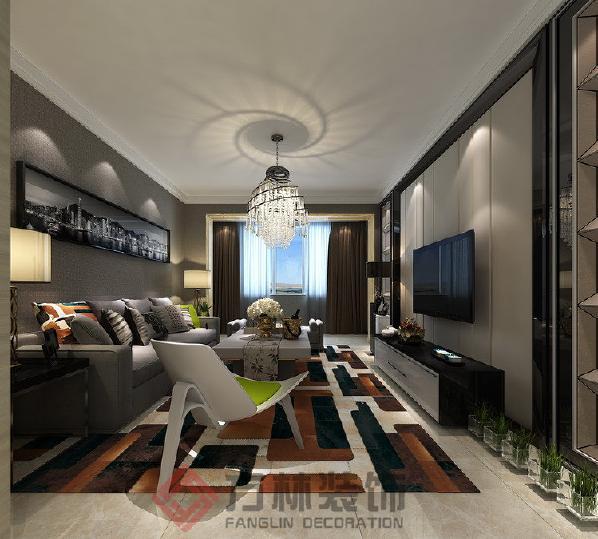 沈阳中金启城两小户型打通85平米现代风格设计案例