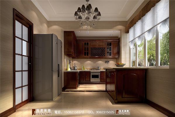 九号公馆厨房细节效果图---成都高度国际装饰设计