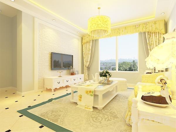 客厅作为户型中的心脏,在电视背景墙上做了石膏线与文化墙的框式搭配图片