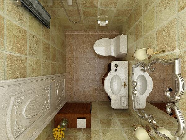 最后是一个卫生间,应卫生间面积不是很大,所以没有做干湿分离区,这样会让空间显得大一点。整体来看这个户型,是非常好的一个户型,通风、采光都是相当的好。