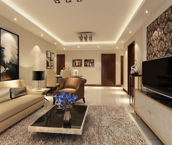 该房间以雅致风格为基调,配以现代的设计元素。