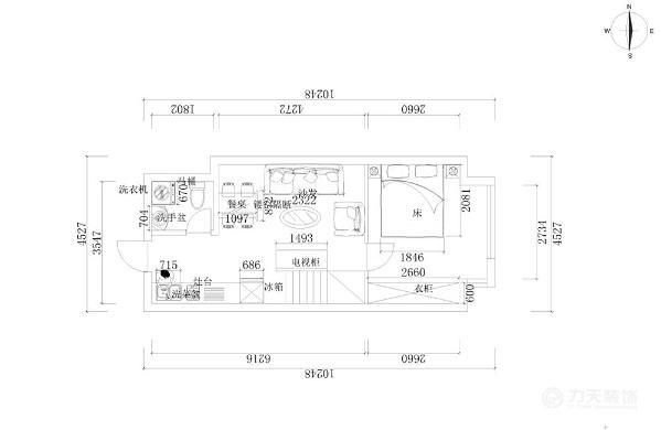 整体房型的实现功能划分的合理。