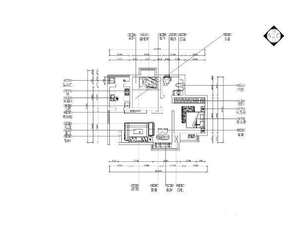本案为海滨园标准层户型两室一厅一厨一卫64㎡的户型。这次的设计风格定义为现代简约风格