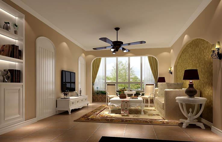 田园 三居 装修 设计 客厅图片来自张邯在高度国际-长滩壹号的分享