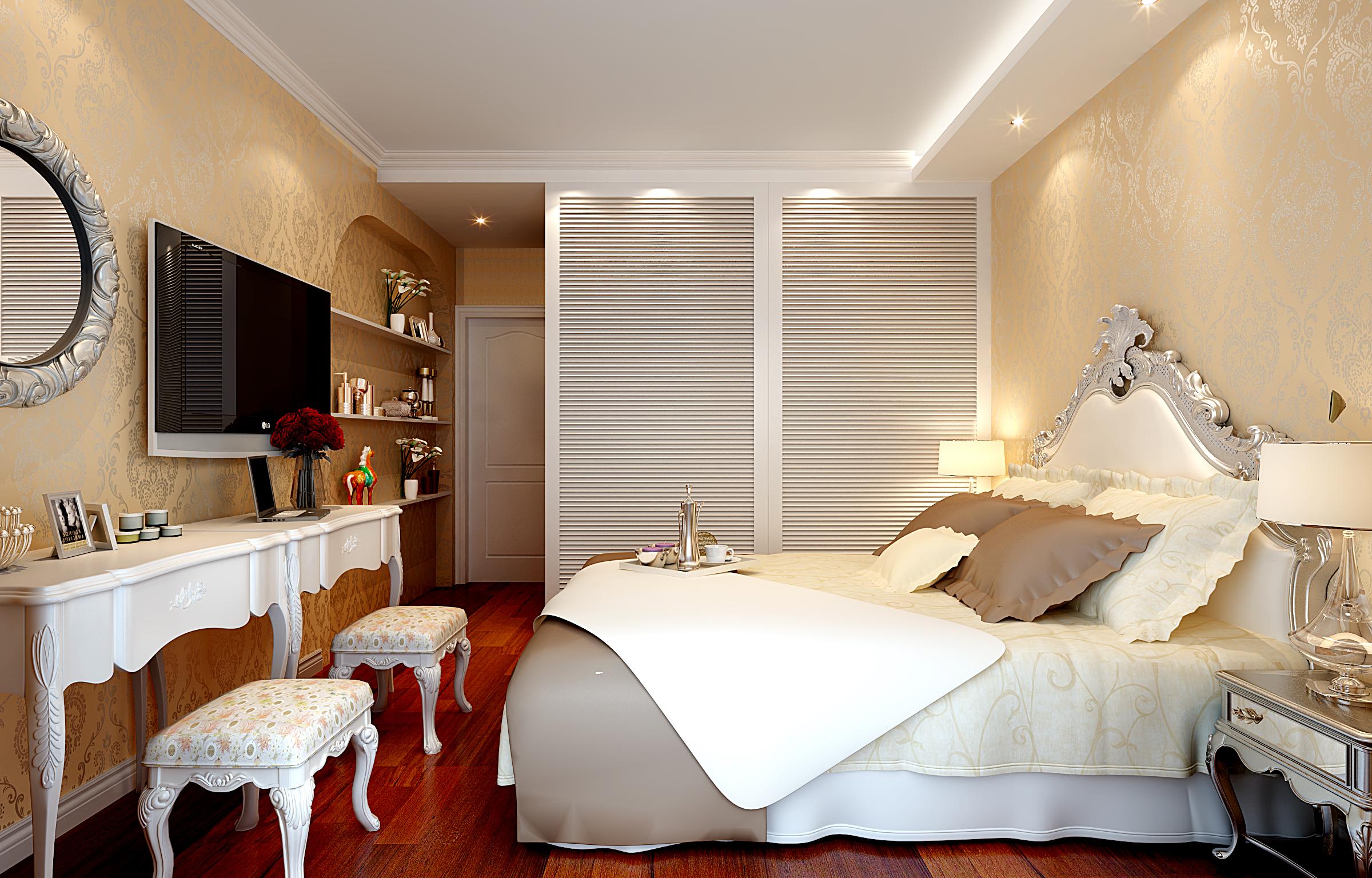 古典欧式 卧室图片来自武汉一号家居网装修在雍华府95平古典欧式2室2
