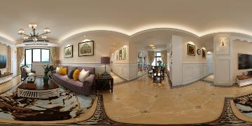 保利时代105平简约美式3室2厅