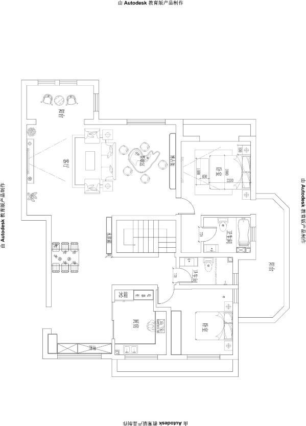 【红珊湾】-中式风格别墅-石家庄实创装饰 平面布置图