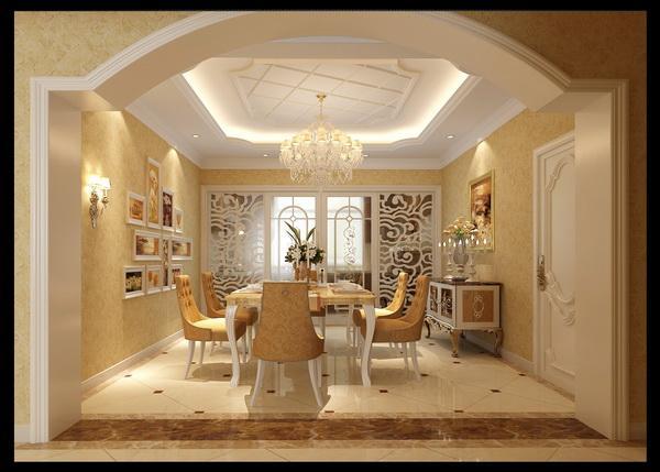 不规则垭口把餐厅与客厅清晰划分开,使空间变得更宽敞,起到了很好装饰效果。把简单的餐厅赋予了生命力。