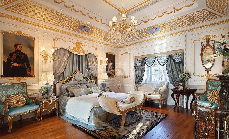法式装修别墅装修石家庄装修石家庄装饰瀚沃装饰卧室