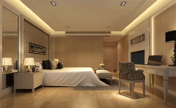 作为私人的空间,还是需要远离浮华趋于宁静,所以采用了浅色地板,墙壁和顶端使用舒适的白色来进行装饰,给人宁静雅致的感觉。
