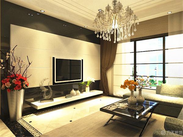 沙发背景墙为了跟电视背景做呼应,贴了由黑、白、灰颜色为主的壁纸,为了增加一些画面感,给墙上挂了三幅挂画。整个感觉让电视墙和沙发墙形成了一个整体。