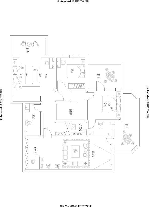 【红珊湾】-中式风格别墅-石家庄实创装饰 户型图