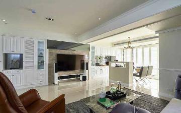 126平欧式风格三居室装修样板间