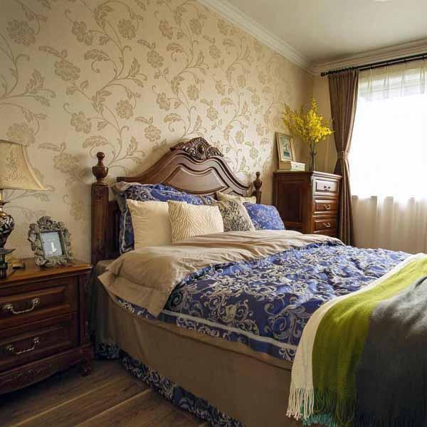 次卧室,纯纯的美式风格,考虑将来给父母过来暂住,用色偏向稳重,古朴。