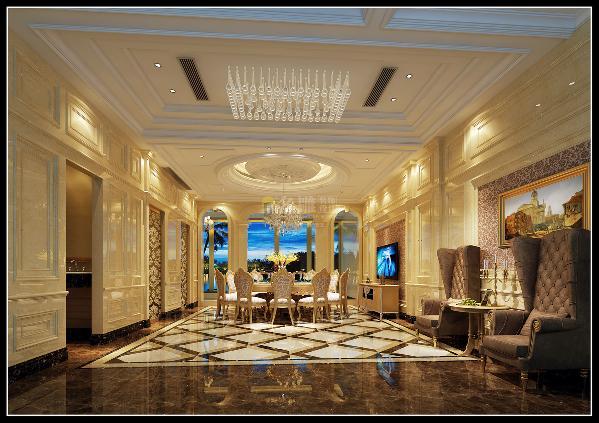 设计师大胆的把餐厅移至负一,让整个就餐空间大方得体,动静分离,形体上也更为独立完整