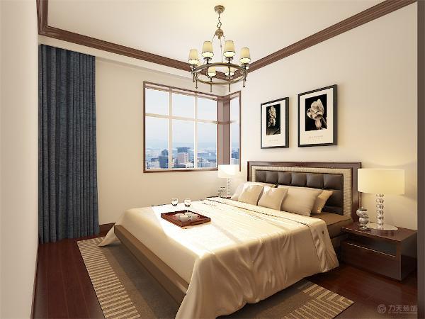衣帽间位置黑胡桃一个配合皮质沙发体现了简单中的高雅。
