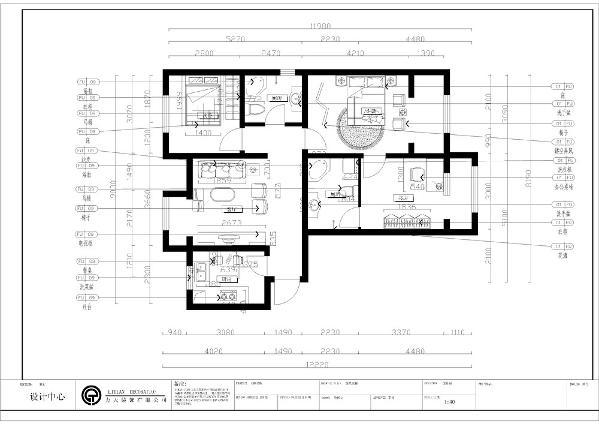 北辰新天地盛景湾19号楼3-10层C5户型3室2厅2卫1厨 114.00㎡户型方正实用,结构紧凑动静分区明确布局比较合理,公共空间浪费小,提高了空间使用率;客厅与阳台连成一体,通风采光效果好;
