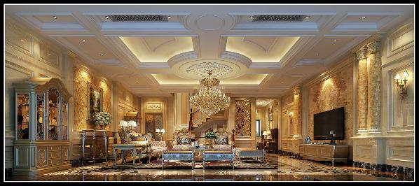会客厅:结构上的大胆改造让客厅更加方正完整,空间气质肃然起立,气度间见非凡