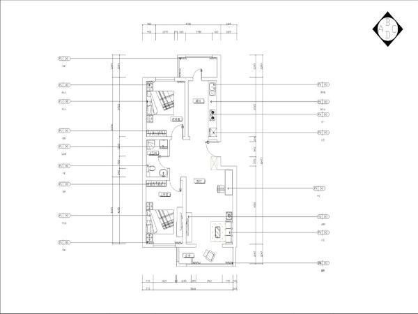 本方案是恒益隆庭一期37号楼标准层C户型图,2室2厅1卫1厨,面积为92.79平米。入户门顺时针方向分别为厨房、阳台、次卧、卫生间、主卧、阳台和起居室。该户型面积中等,布局较合理,整体采光不错,墙体没有拆改。